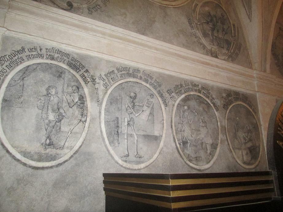 nástěnné malby v Černé kapli